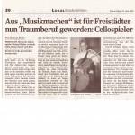 """Aus """"Musikmachen"""" ist für Freistädter nun Traumberuf geworden: Cellospieler"""