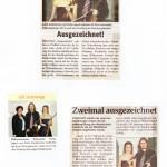 Mitglieder der Jungen Philharmonie Freistadt werden ausgezeichnet