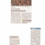 Sommerkonzert der Jungen Philharmonie Freistadt